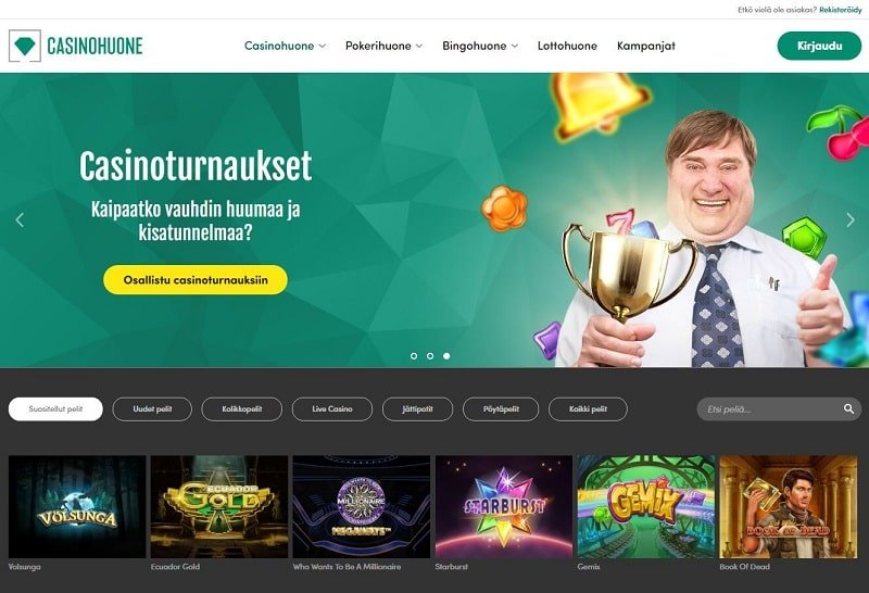 Casinohuone on suomalaisille suunnattu nettikasino
