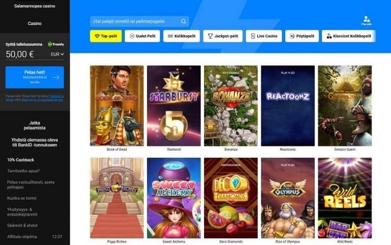 Thrills Casinolla on näyttävä pelivalikoima.