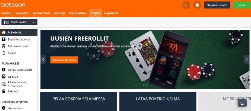 betsson casino pokeri