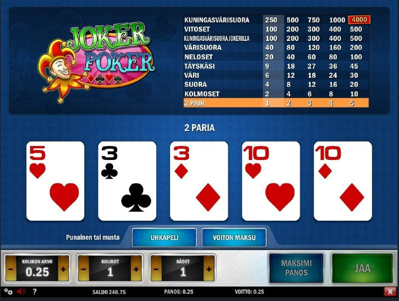 jokeripokeri play n go peli