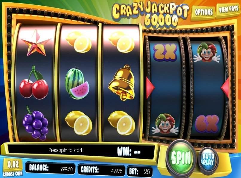 crazy jackpot 60 000 rullat jokeri hedelmät