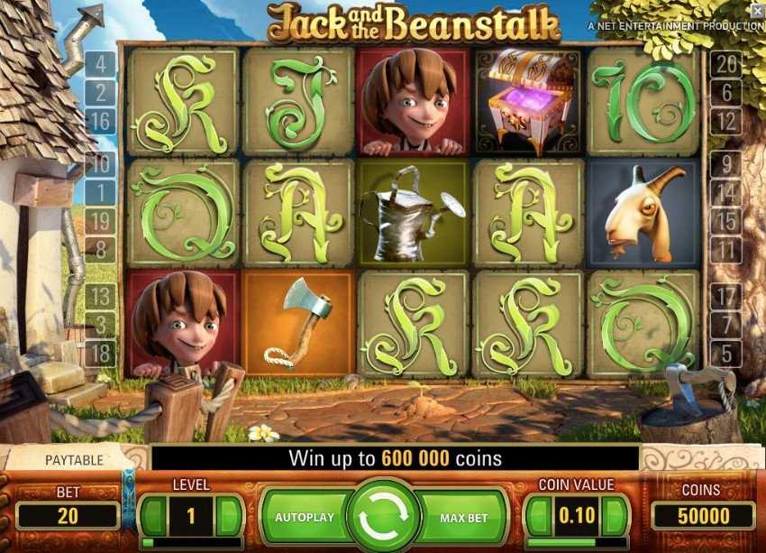 jack and the beanstalk peruspeli