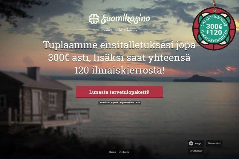 Suomikasino sijaitsee kauniissa järvimaisemissa