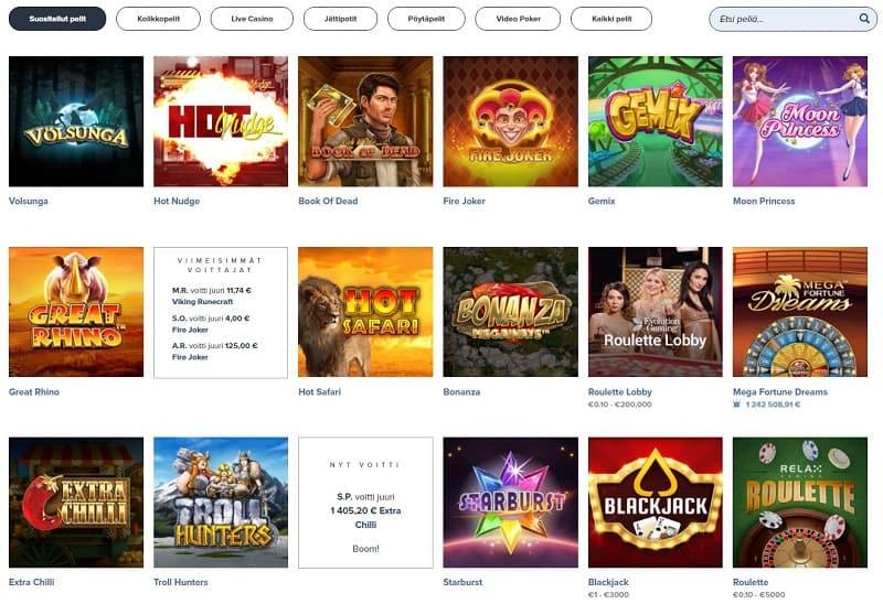 iGame-kasinon pelivalikoima