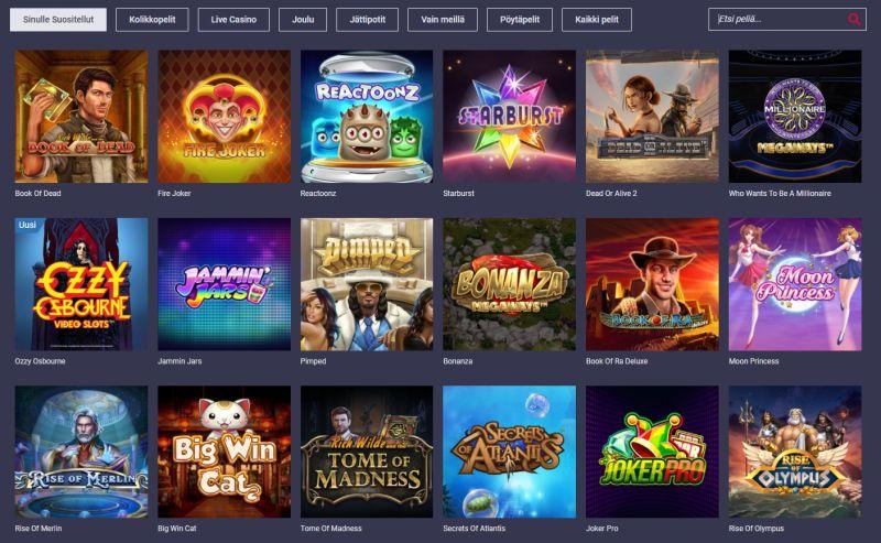 maria casino pelivalikoima