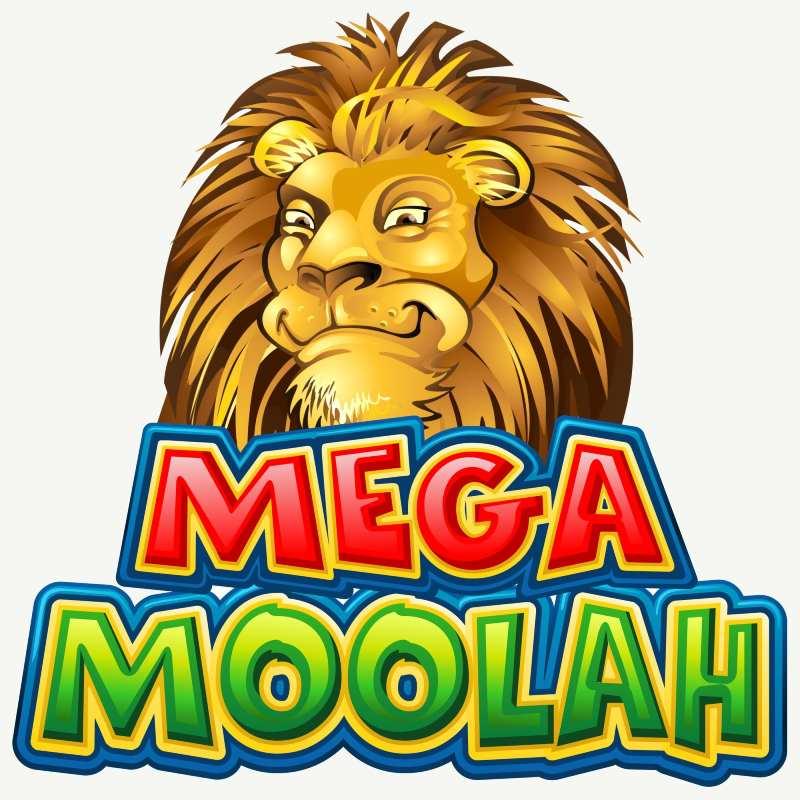 mega moolah kolikkopeli logo leijona