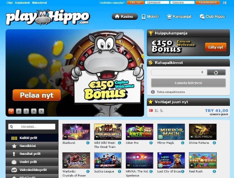 playhippo casino etusivu