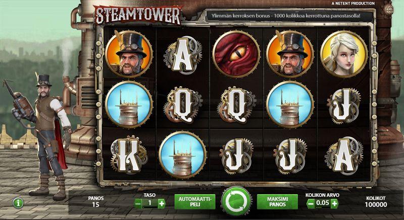 steam tower peruspeli