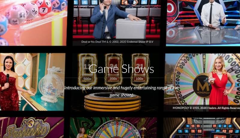 evolution gaming kasinot game show pelit
