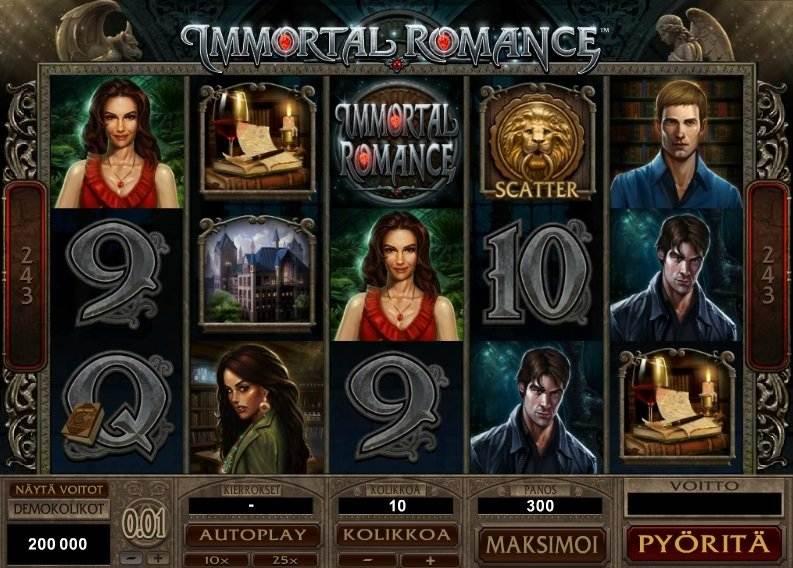 immortal romance peruspeli