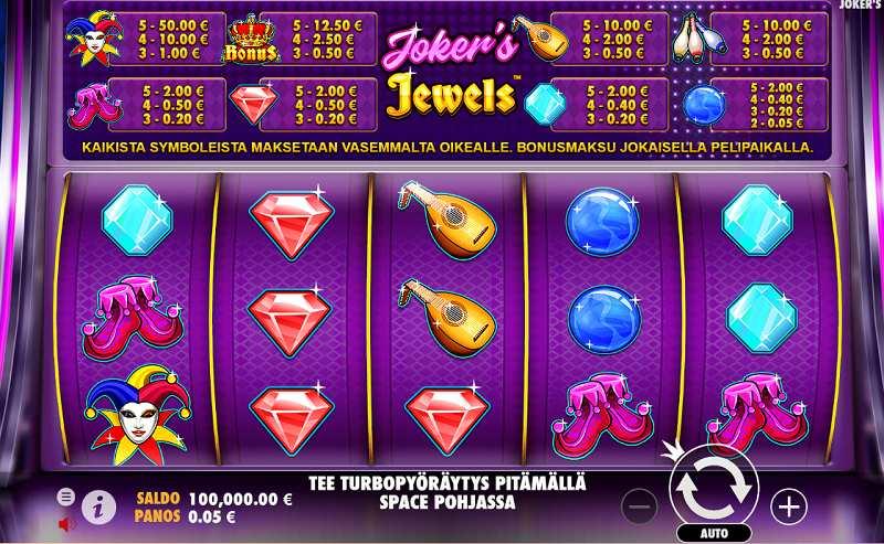 joker's jewels kolikkopeli peruspeli