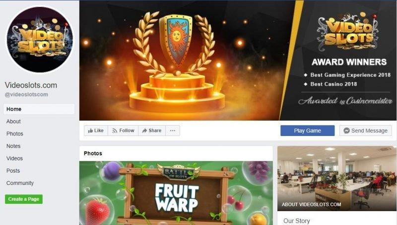 Videoslots Facebookissa