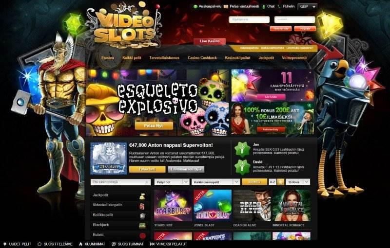 videoslots casino etusivu tervetuloa