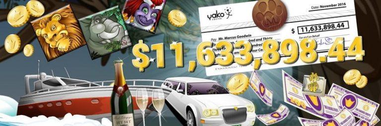 Yako Casino jättipotti