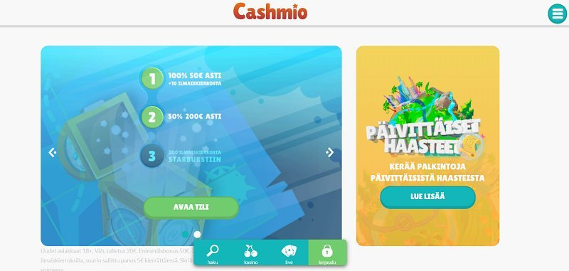 cashmio casino etusivu