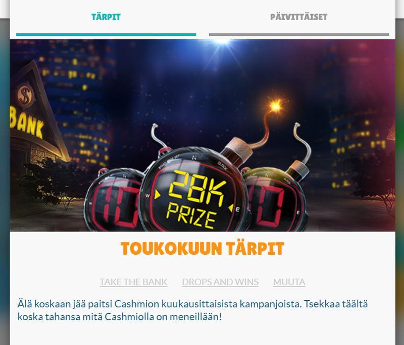 cashmio casino kampanjat