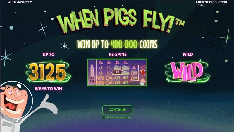 when pigs fly aloitusruutu