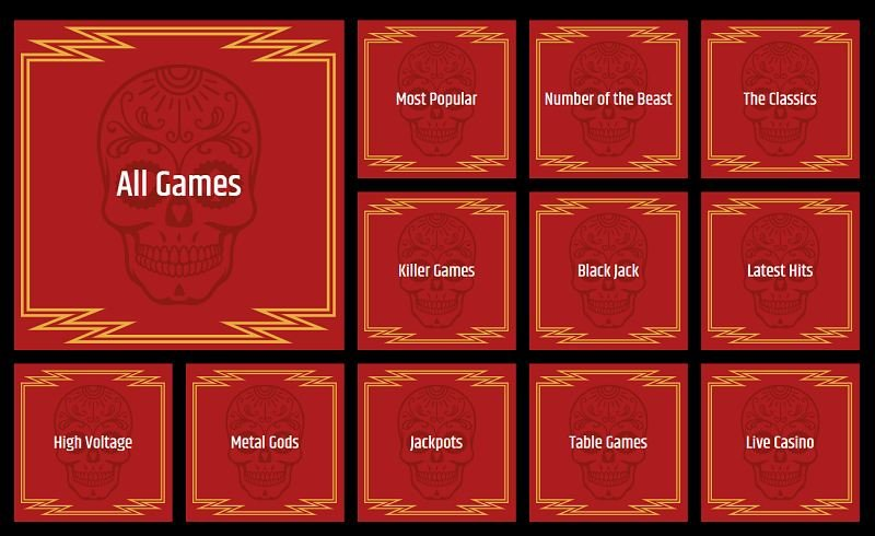 metal casino pelikategoriat