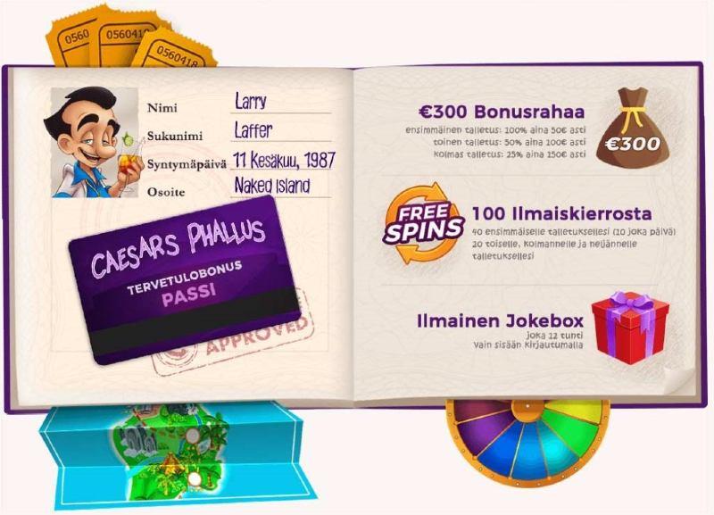 larry casino bonukset