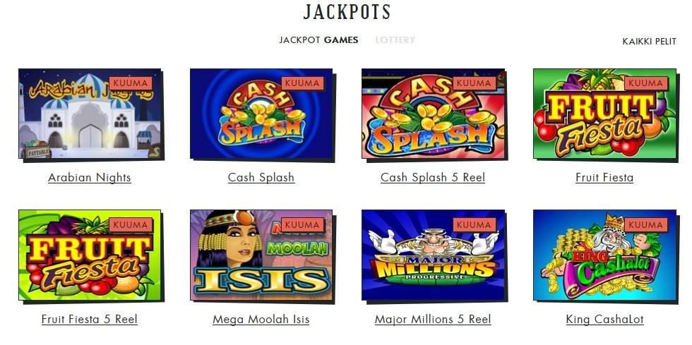 spilleren jackpot-pelit