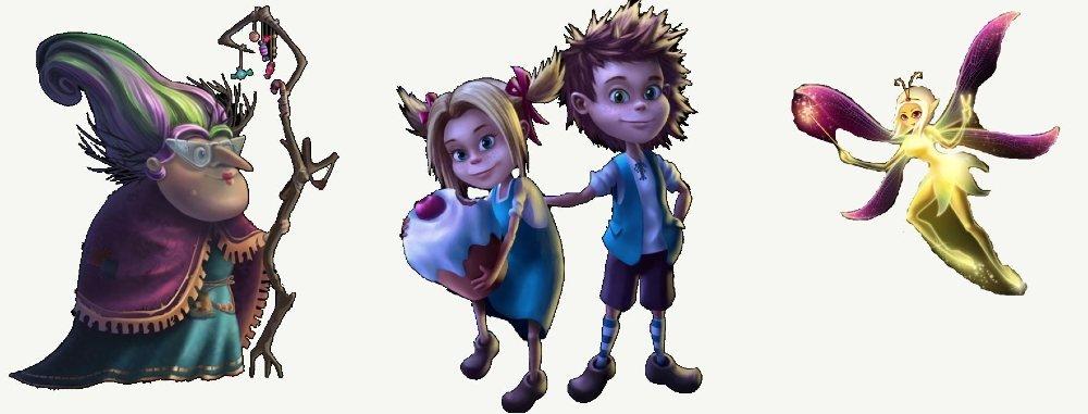 fairytale legends hansel and gretel pelihahmot