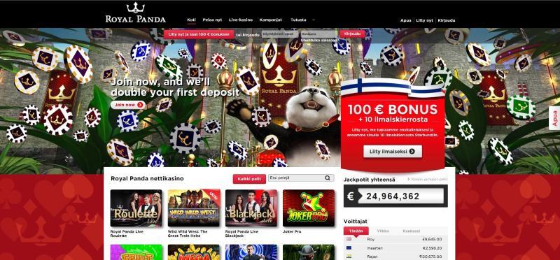 royal panda nettikasino etusivu