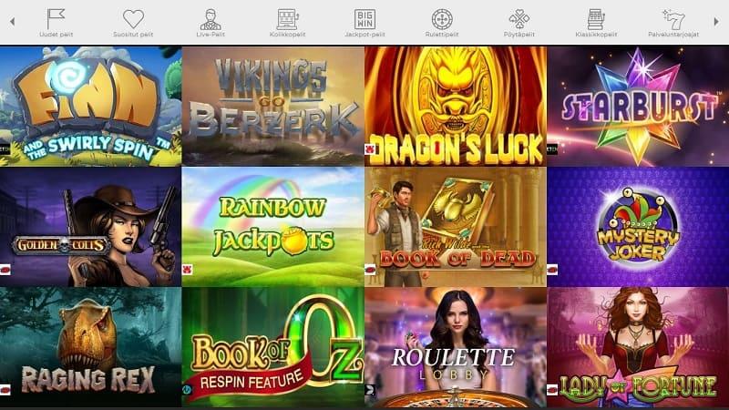 Casino Cruise pelivalikoima