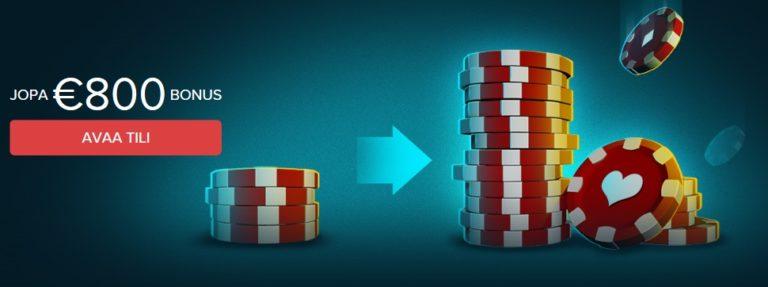 casinoland bonus tervetuliaistarjous