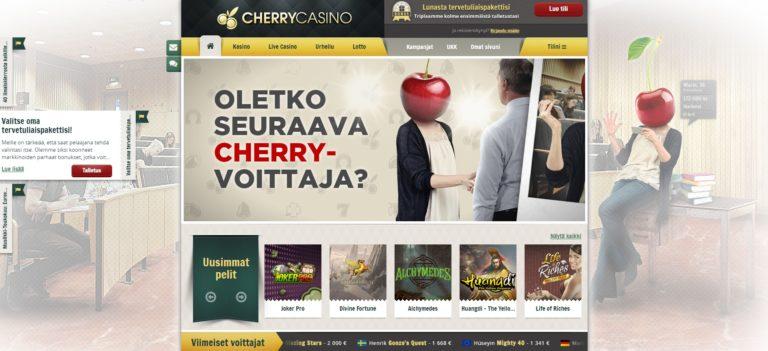 cherrycasino bonustarjous uusille pelaajille