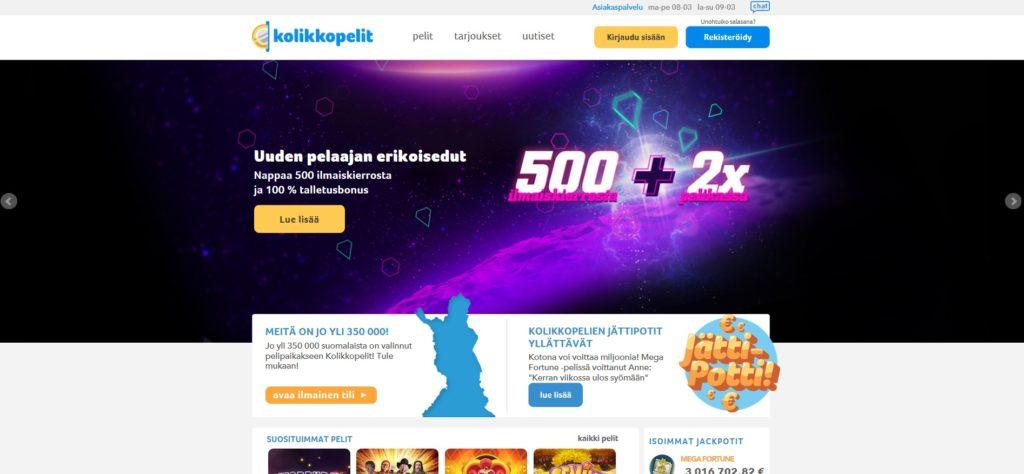 kolikkopelit nettikasino suomalaisille