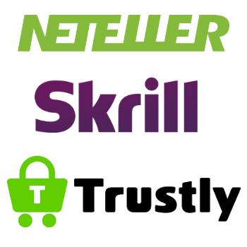 Nopeita maksutapoja ovat muun muassa Neteller, Skrill ja Trustly
