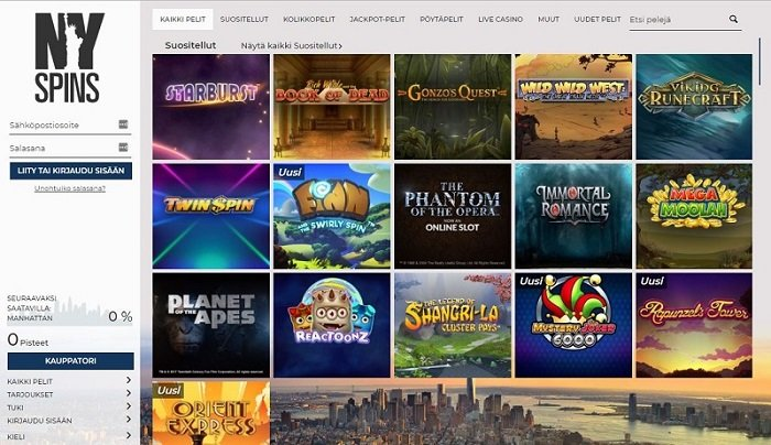 NYspins Casino nettikasino