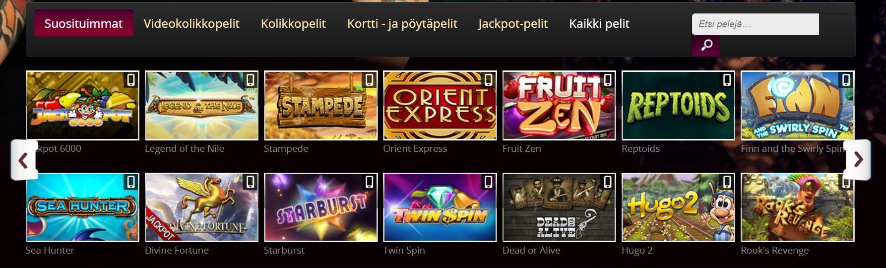 Vegas Casino kolikkopelit