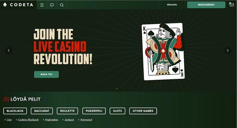 Codeta Casino etusivu