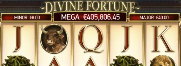 Divine Fortune jättipotti CasinoHeroes