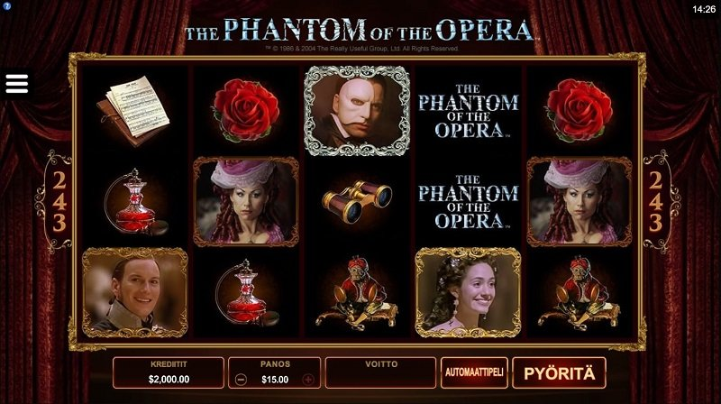 Phantom of the opera online hedelmäpeli