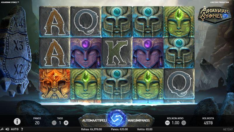 asgardian stones kolikkopeli peruspeli