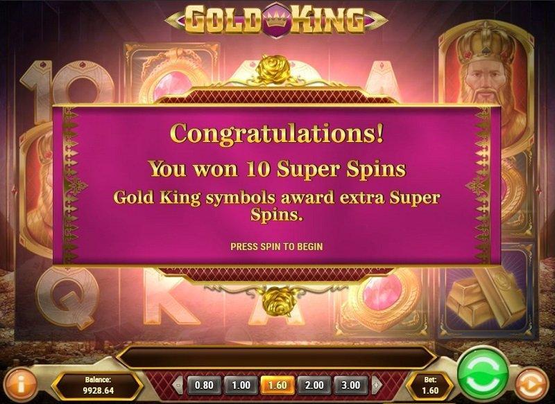 gold king super spins ilmaiskierrokset