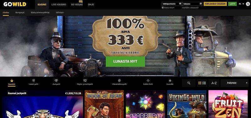 GoWild Casino etusivu