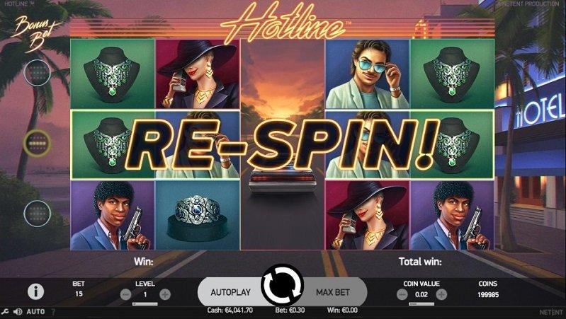Hotline kolikkopeli re-spin