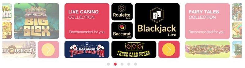 Omnia Casino pelivalikoima