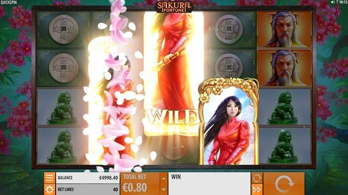 sakura fortune wild symboli