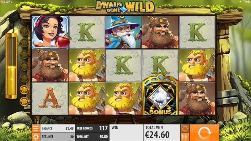 Dwarfs gone wild -kolikkopeli