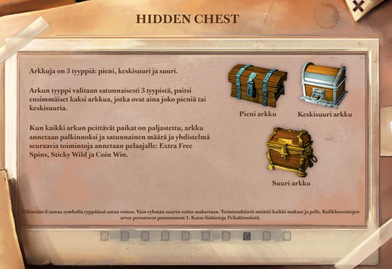 lost relics hidden chest bonustoiminto
