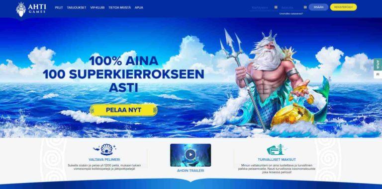 Ahti Games nettikasino suomalaisille