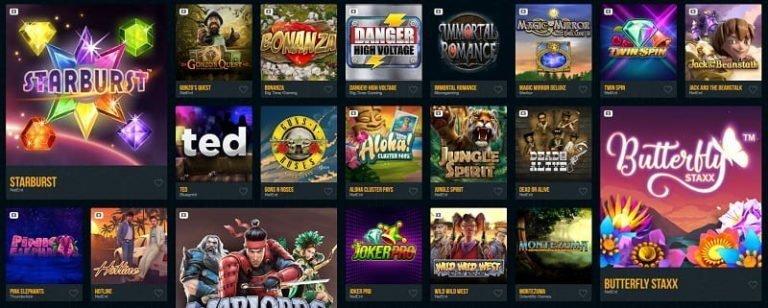 Dream Vegas kasino pelivalikoima