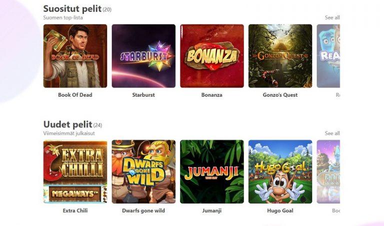 Dreamz Casino pelivalikoima
