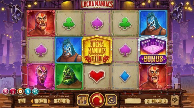 Lucha Maniacs -kolikkopeli