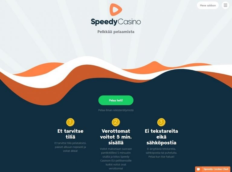 Speedy Casino etusivu