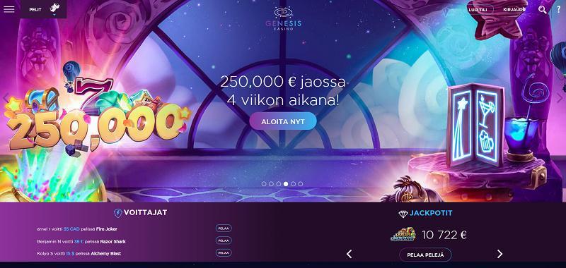 genesis casino etusivu